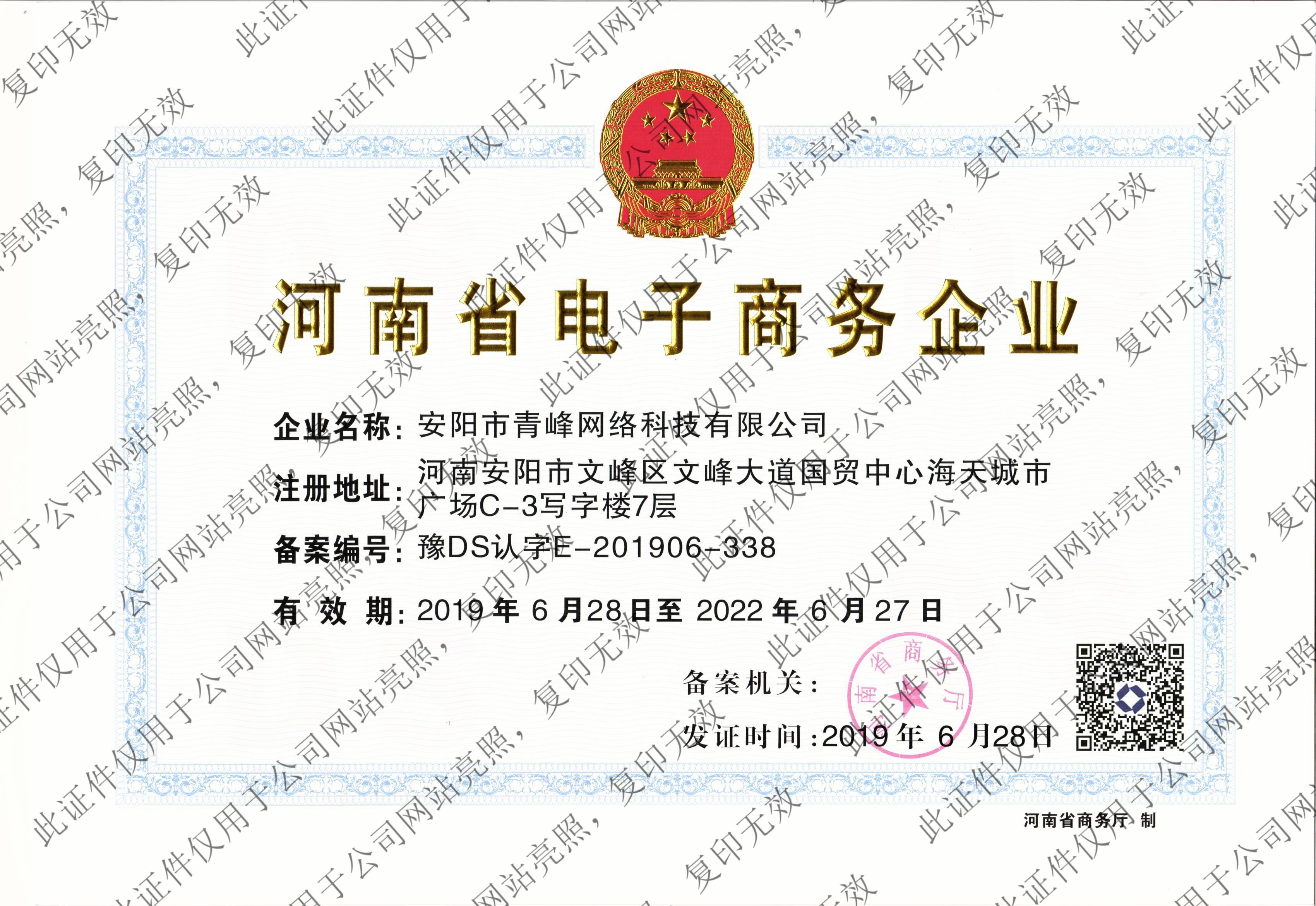 河南省电子商务企业